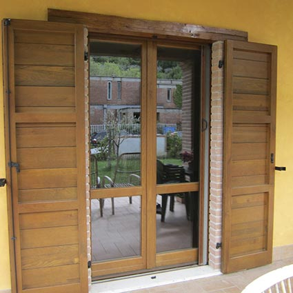 French window with shutter