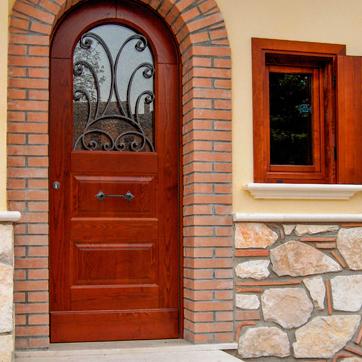 L 39 infisso porte e finestre legno lamellare e alluminio - Portoni garage con finestre ...